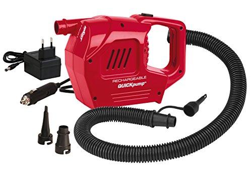 Coleman Luftpumpe elektrische Wiederaufladbar inklusive 12V und 230V Ladegerät, Rot, 2000019878