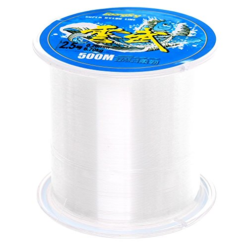 Sicai nylon fishing line, 500 m, monofilament, clear nylon wire fishing line, approx. 0.26 mm in diameter