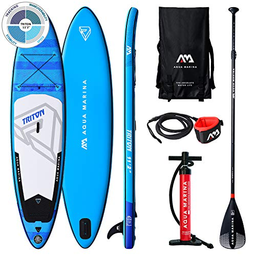 "TRITON Stand Up Paddle Board 11.2"" Blau aufblasbar iSUP im Set, 340 x 81 x 15 cm"