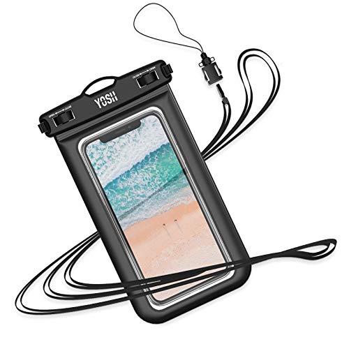 YOSH wasserdichte Handyhülle 6,8 Zoll Unterwasser Wasserfeste Handy Wasserschutzhülle Handytasche wasserdicht Schwimmen fürs iPhone 11 Pro XS Max XR X 8 7, Samsung A50 S8 S9 Plus LG Huawei usw