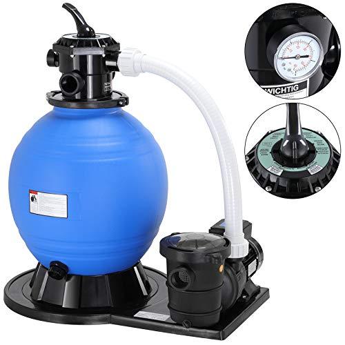 Monzana Sandfilter Sandfilteranlage mit Vorfilter 15.900 l/h 60 Liter Tank Poolfilter Filteranlage Filterkessel
