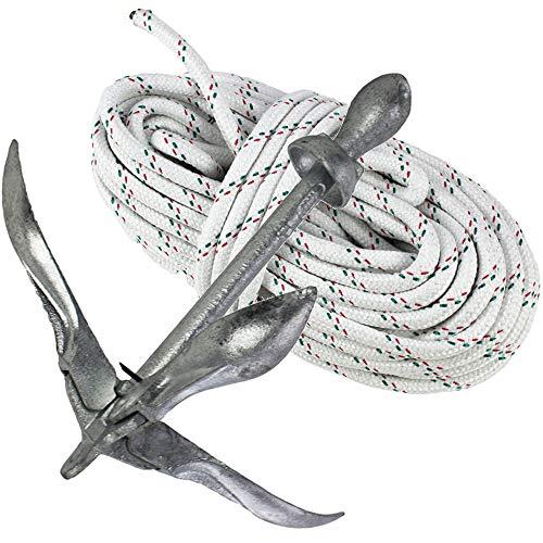 Faltanker Klappanker verzinkt 1,5kg mit 30 m Ankerleine 8 mm