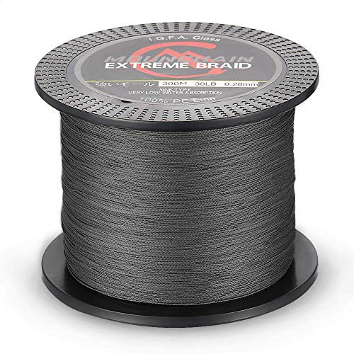 Mounchain Braided Fishing Line 4 Compartment 300m 20LB Gray