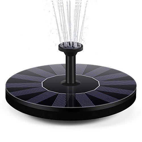 BAONUOR Solar Springbrunnen 2020 Upgrade, Solar Teichpumpe mit 5 Effekte Solar Wasserpumpe Solar schwimmender Fontäne Pumpe für Gartenteich Oder Springbrunnen Vogel-Bad Fisch-Behälter