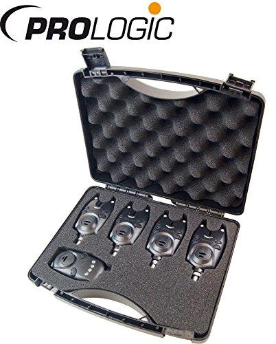 Prologic Firestarter Pro Alarm Kit 4+1 - Funk Bissanzeiger Set zum Karpfenangeln, Bissanzeiger Set, Karpfenangeln, Angeln auf Karpfen