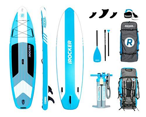 iROCKER Cruiser Aufblasbares Stand Up Paddle Board 320 cm lang 84 cm breit 15 cm Dickes SUP-Paket