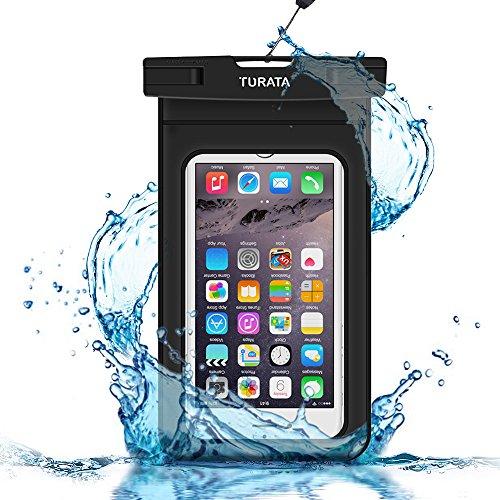 TURATA wasserdichte Handyhülle wasserdichte Hülle wasserfeste handyhülle staubdicht Schützhülle für iPhone X 8 7 6s 6 Plus 5s Samsung S8 S7 S6 bis zu 6 Zoll