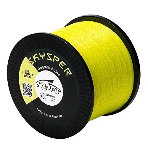 SKYSPER Fishing Line Braided 4 Braid Fishing Line Super Braided Lines 500m 1000m