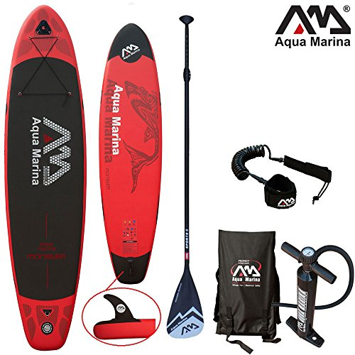 Aqua Marina MONSTER 12'0' Combo 2 / Stand Up Paddelboard inkl. Pumpe, Finne, Paddel, Tragetasche & SUP Leine