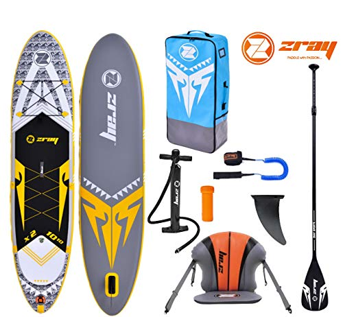 Zray X-Rider X2 10.10 SUP Board Stand Up Paddle Surf-Board Kajak-Sitz Paddel ISUP Leash