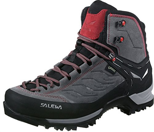 Salewa Herren MS Mountain Trainer Mid Gore-TEX Trekking-& Wanderstiefel, Charcoal/Papavero, 46 EU