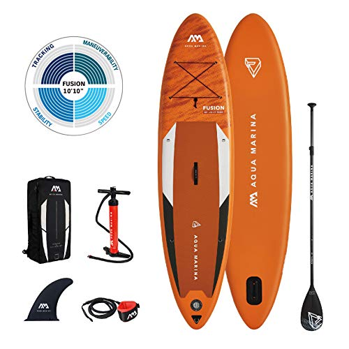 "AM AQUA MARINA Stand Up Paddle Board aufblasbar im Set Fusion 2021 iSUP 10'10"" Stand-Up Paddling SUP-Board 330 x 81 x 15 cm"