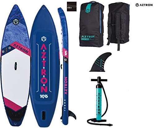 Aztron Terra 10.6 Double Double SUP Stand up Paddle Board mit Power Carbon 70 Paddel