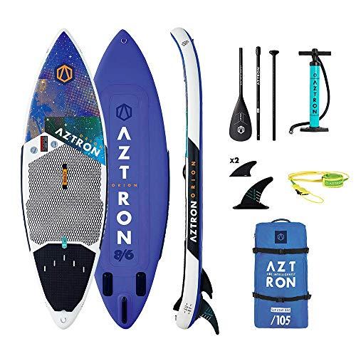 Aztron Orion, SUP/Surf Gioventù Unisex, Weiß/Violett/Schwarz, 259X74X12