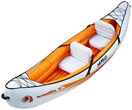 Blueborn Indika 2 Touren-Kajak 325x80cm Kanu Nylonhülle für 2 Personen mit 165kg Tragkraft orange