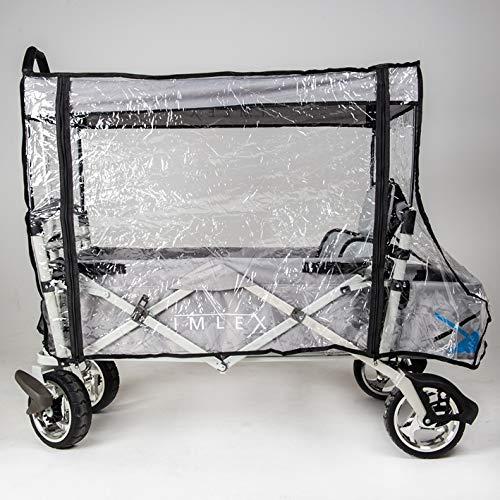 IMLEX Regenschutz/Regenverdeck Zubehör für faltbaren Bollerwagen IM4265, IM6650 und IM3004 geeignet auch für viele Gängege Modelle
