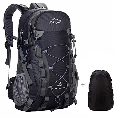 Meisohua Wasserdichter Rucksack 40L Leicht, Erwachsene Wanderrucksack Manner Frauen Outdoorrucksack für Klettern Camping Reiten Reisen Freizeit, für 15.6 Zoll Laptop (Schwarz)