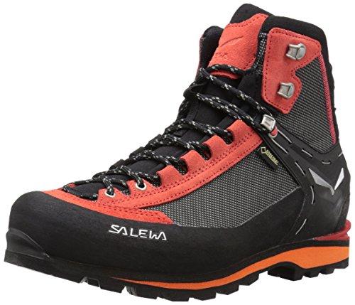 Salewa Herren MS Crow Gore-TEX Trekking-& Wanderstiefel, Black/Papavero, 45 EU
