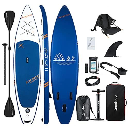 Aufblasbares SUP Stand Up Paddle Board, 11'6'' Touring SUP Board, aufblasbares SUP Board, iSUP Board Paket mit allem Zubehör, 30,3 x 81,3 x 15,2 cm