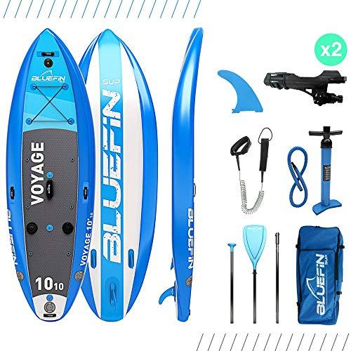 Bluefin SUP Aufblasbares Steh-Paddle Board | 10'10 Voyage-Modell | Stabiles Design | Komplett mit allem Zubehör
