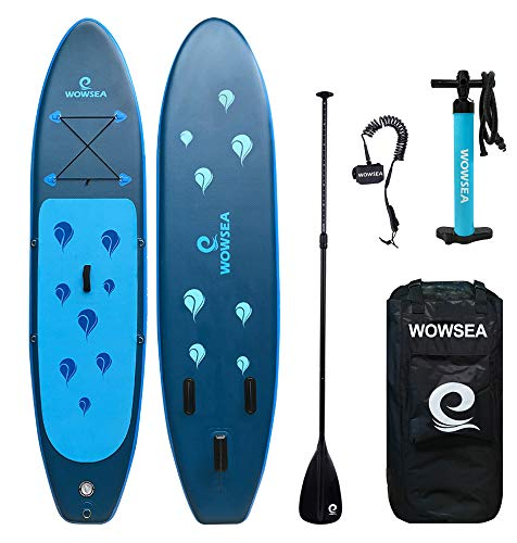 WOWSEA Aufblasbares Stand Up Paddle Board Set AN16 Inflatable SUP Paddling Board für Anfänger, 305cm, 15cm Dicke, Bis 150kg