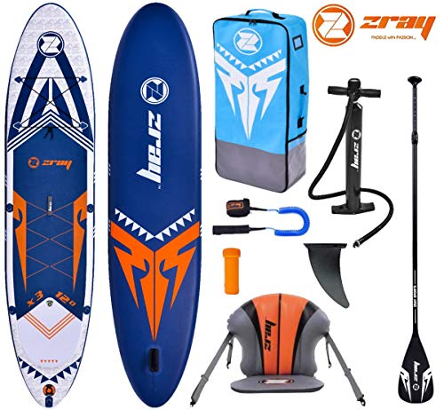 Zray X-Rider X3 12.0 SUP Board Stand Up Paddle Surf-Board Kajak-Sitz Paddel Leash 365x81x15cm