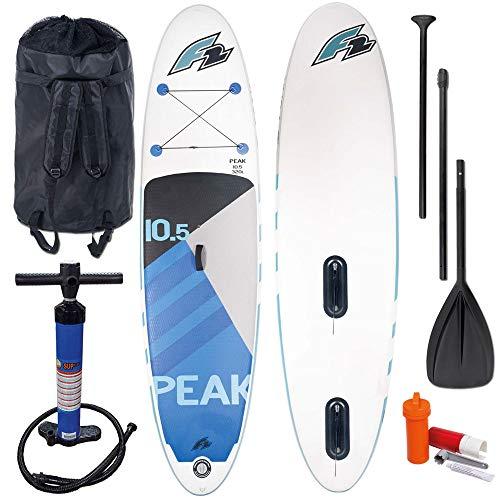 F2 Peak Windsurf Stand Up Paddle Board Set 800192 White/Blue - 350 cm