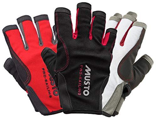 Musto Essential Sailing Kurze Fingerhandschuhe in Schwarz - Erwachsene Unisex - Perfekt für das Segeln in warmen Bedingungen - Leichtes Stretch