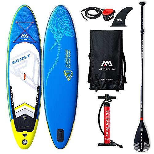 Aqua Marina Aufblasbare Stand Up Paddle Sup AQUAMARINA Biest 2019 Full Pack 320x81x15cm
