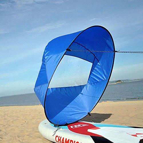 HOOMYA 42'' Abwind Kajak Segel Paddel, Kanu Segel INSTANT Kit - Einfaches Setup & Schnell einsetzbar & Tragbar & Kompakt (Blue)