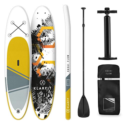 Klarfit Kauai Flow, innovatives Double Layer Stand up Paddling SUP-Board, All inkl. Set, 305x10x77cm