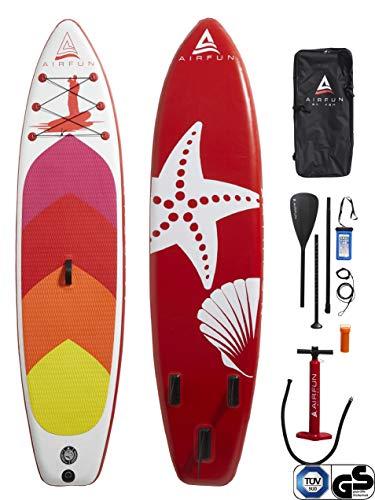 Sena AIRFUN SUP Paddleboard aufblasbar, TÜV geprüft   305x76x15cm   10.0'   Traglast 150 kg   Komplett-Set Stand UP Paddle Board, iSUP Paddling Paddelboard