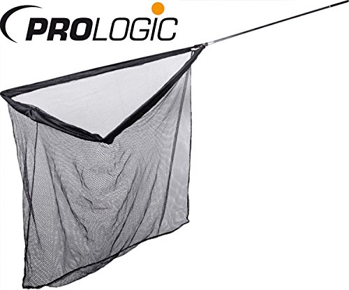 Prologic Classic Carbon Landing Net 42'' Karpfenkescher, Angelkescher zum Karpfenangeln, Kescher für Karpfen, Fischkescher, Unterfangkescher, Karpfen Kescher