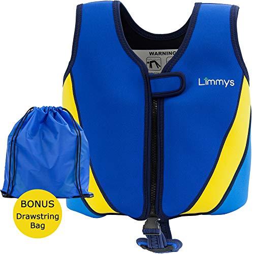 Limmys Premium Neopren Schwimmweste, ideale Schwimmhilfe für Jungen und Mädchen, EXTRA Kordelzugtasche inklusive (Klein)