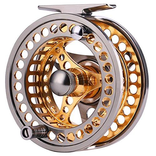 Sougayilang Fliegenfischen, große Spule 2+1 BB mit CNC-gefrästem Körper aus Aluminiumlegierung und Spule in Fliegenrolle Größen 5/6,7/8, 5/6 Reel